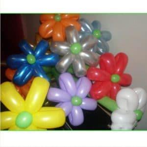 como adornar con globos largos