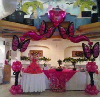 Como adornar con globos para 15 años, hermoso y elegante!!