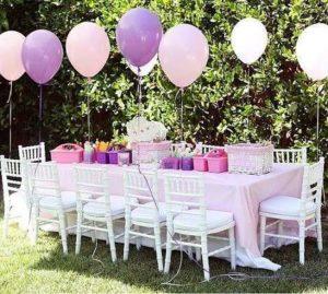 como adornar con globos para 15 años