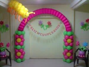 como adornar con globos para fiestas infantiles