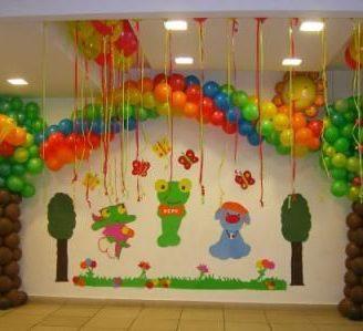 Como decorar con globos un cumpleaños infantil