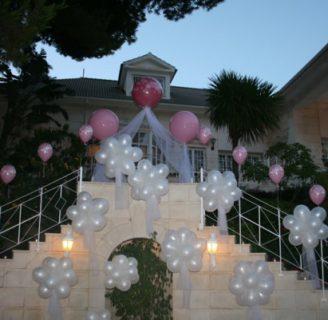 Como decorar con globos una boda