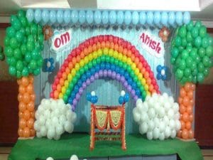 Como decorar un salon de fiestas con globos