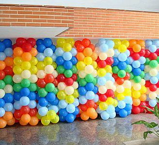 Como decorar una pared con globos, exclusivas!!