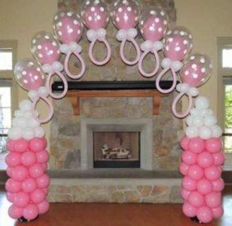 Lo ultimo en decoración con globos para baby showers de niños y niñas, muy fáciles de hacer