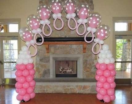 Como hacer adornos con globos para baby shower for Como hacer decoracion con globos