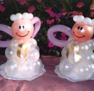 Lo último en decoraciones con globos para bautizos de niños y niñas, muy fáciles de hacer