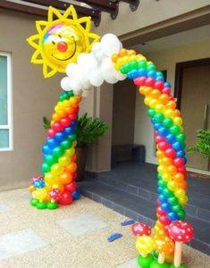 como hacer arcos con globos para fiestas infatiles
