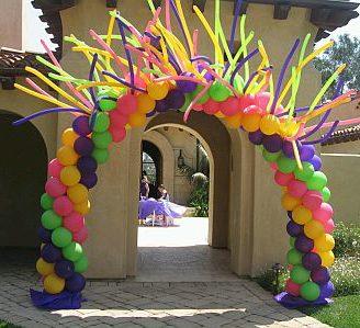 Como hacer arcos con globos para fiestas infantiles tu mismo