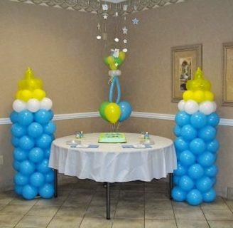 Como hacer columnas de globos de tres colores, espectaculares!!