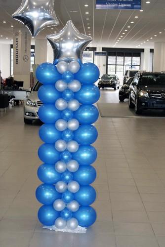 como hacer columnas de globos