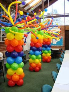 Como hacer columnas de globos para fiestas infantiles paso for Decoracion de globos para fiestas infantiles paso a paso