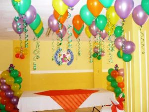 Como hacer decoracion con globos para cumplea os de - Como hacer decoracion de cumpleanos ...