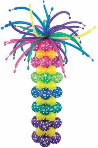 Como hacer un arreglo de globos para cumpleaños