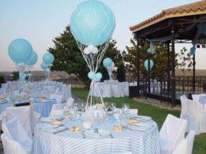 como hacer una decoración con globos