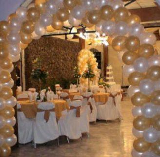 Como hacer decoraciones con globos facilmente - Como decorar un salon para bautizo ...