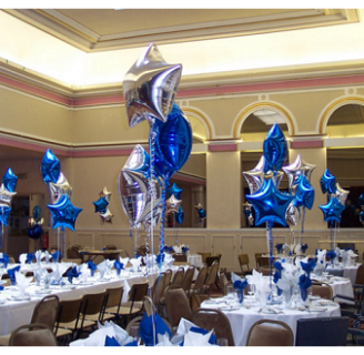 Como decorar con globos metalicos originalmente