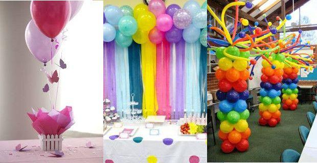 Como hacer adornos con globos para cualquier ocasi n - Como decorar un salon barato ...