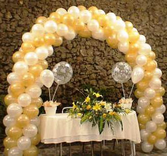 Como hacer arcos de globos para bautizo