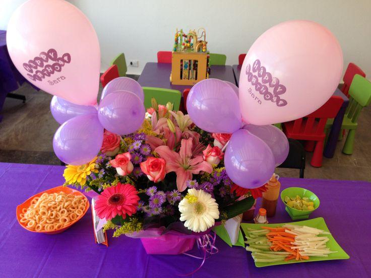 Como hacer centros de mesa con globos originales - Centros de mesa con globos ...