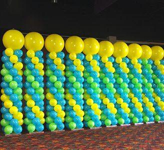 Como hacer columnas con globos