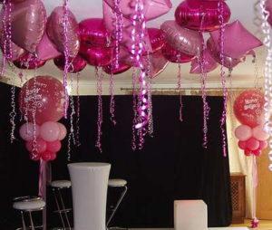 como hacer decoraciones con globos para 15 años