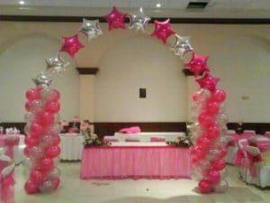 como hacer decoraciones con globos para 15-anos