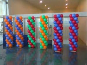 como hacer torres de globos