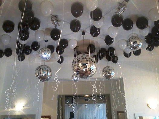 Como hacer adornos con globos para cumplea os for Como hacer que los globos se queden en el techo