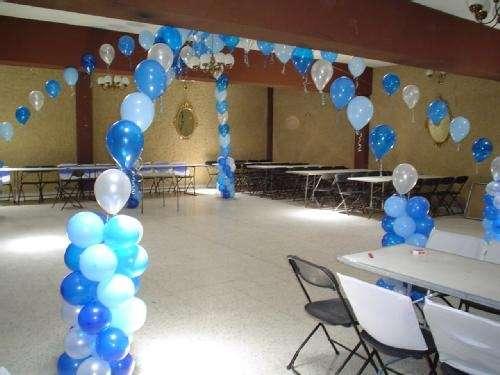 como hacer adornos con globos para bautizo Hermossimos