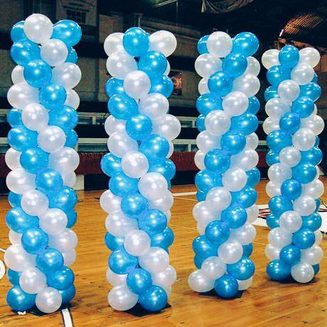 como hacer columnas de globos espectaculares y hermosas