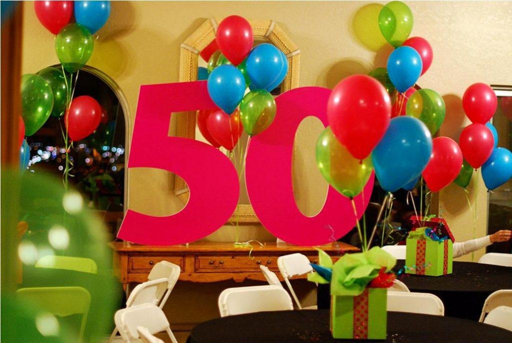 Como hacer adornos con globos para cumplea os - Decoracion con globos 50 anos ...