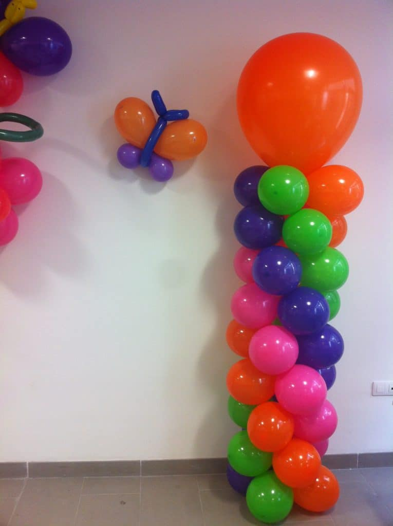 Como hacer columnas de globos para fiestas infantiles for Como hacer decoracion con globos