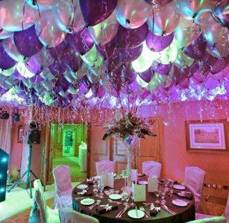 Como Hacer Decoraciones Con globos pegados al techo sin que se caigan