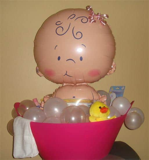 Como hacer adornos con globos para baby shower - Como hacer adornos para fiestas ...