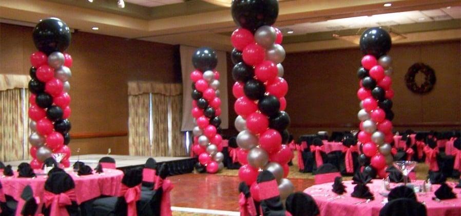 Como decorar con globos para 15 a os con fabulosas y - Decoracion con globos 50 anos ...